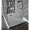 Receveur de douche à poser résine blanc Cooke & Lewis Piro 80 x 160 cm