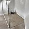 Receveur de douche à poser résine taupe COOKE & LEWIS Piro 80 x 120 cm