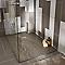Receveur de douche à poser résine taupe Cooke & Lewis Piro 80 x 140 cm