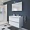 Ensemble de salle de bains à suspendre Imandra blanc 100 cm meuble sous vasque + plan Nira