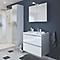 Ensemble de salle de bains à suspendre Imandra blanc 80 cm meuble sous vasque + plan Lana
