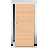 Porte coulissante coloris chêne Geom Summa naturel 73 cm