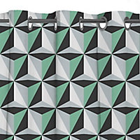 Rideaux Arlequin vert 140 x 240 cm