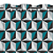 Rideaux Arlequin bleu 140 x 240 cm