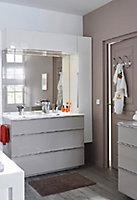 Commode de salle de bains anthracite Cooke & Lewis Pamili 60 cm
