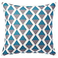 Coussin Bergen bleu 45 x 45 cm