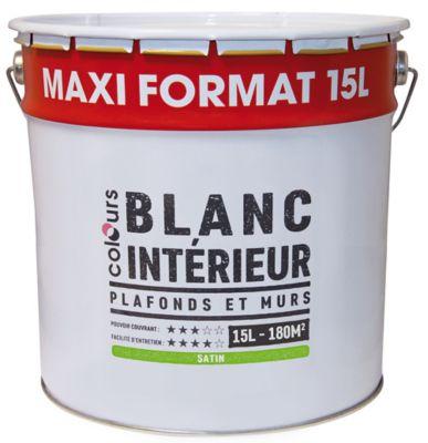 Peinture Intérieure Plafonds Et Murs Colours Blanc Satin 15 L Castorama