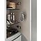 Colonne de salle de bains gris clair brillant Vague 30 cm