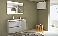 Plan vasque résine Cooke & Lewis Vague version gauche 104 cm