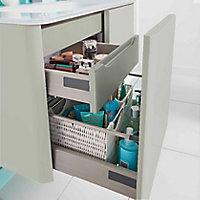 Meuble sous-vasque à suspendre gris clair brillant Cooke&Lewis Ceylan 94 cm
