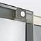 Porte de douche coulissante Cooke & Lewis Zilia verre fumé 120 cm