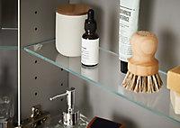 Tablette en verre Imandra compatible avec armoire murale 100cm L.70 x P.11 cm