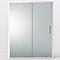 Porte de douche coulissante Cooke & Lewis Zilia verre fumé 160 cm