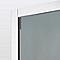 Porte de douche coulissante Cooke & Lewis Zilia verre fumé 140 cm