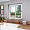 Fenêtre alu 2 vantaux coulissante blanc - 100 x h.100 cm