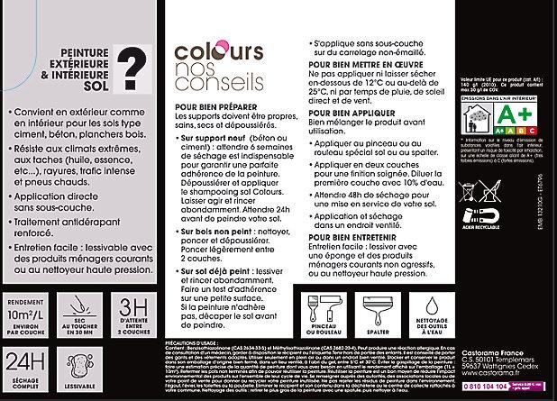 Peinture Sol Colours Premium Basalte Satin 0 5l Castorama