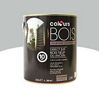 Peinture bois extérieur Colours gris aluminium satin 2,5L