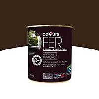 Peinture fer COLOURS brun satin 0,5L