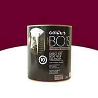 Peinture bois extérieur Colours rouge intense satin 0,5L