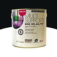 Peinture multi-supports extérieur Colours noir satin 2L