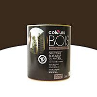 Peinture bois extérieur Colours brun satin 0,5L