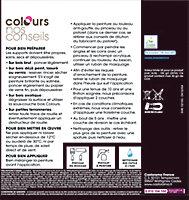 Peinture bois extérieur Colours noir satin 0,5L