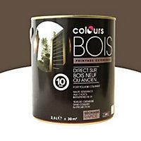 Peinture bois extérieur Colours orage satin 2,5L