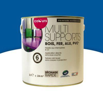 Peinture Multi Supports Exterieur Colours Bleu Outremer Satin 2l Castorama