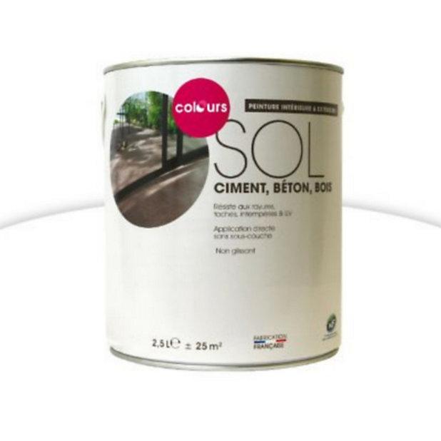 Peinture Sol Interieur Exterieur Colours Blanc Brillant Laque 2 5l Castorama