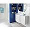 Ensemble de salle de bains Vague blanc 104 cm meuble sous-vasque + complément droit + plan vasque résine
