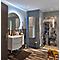 Ensemble de salle de bains gris clair Vague droit plan vasque en résine 104 cm