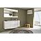 Ensemble de salle de bains Vague blanc plan vasque en résine 138 cm