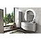 Ensemble de salle de bains Vague blanc plan vasque en verre 138 cm