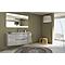 Ensemble de salle de bains Vague gris clair 138 cm meuble sous-vasque + complément gauche et droit + plan vasque résine