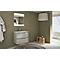 Ensemble de salle de bains Vague plan vasque en résine 70 cm Blanc