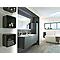 Lot meuble sous vasque et plan vasque Cooke & Lewis Ceylan 95 cm gris