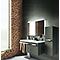 Ensemble de salle de bains Belice gris droit 105 cm