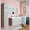 Ensemble de salle de bains Voluto plan vasque en résine 120 cm Greige