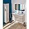 Ensemble de salle de bains Voluto plan vasque en résine 88 cm greige
