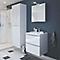 Ensemble de salle de bains à suspendre Imandra blanc 60 cm meuble sous vasque + plan Lana