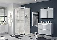 Meuble sous vasque à suspendre GoodHome Imandra blanc 60 cm + plan vasque Mila