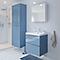 Ensemble de salle de bains à suspendre Imandra bleu 60 cm meuble sous vasque + plan Lana