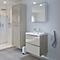 Ensemble de salle de bains à suspendre Imandra taupe 60 cm meuble sous vasque + plan Lana