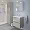 Ensemble de salle de bains à suspendre Imandra taupe 60 cm meuble sous vasque + plan Mila