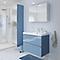 Ensemble de salle de bains à suspendre Imandra bleu 80 cm meuble sous vasque + plan Lana
