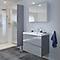 Ensemble de salle de bains à suspendre Imandra gris 80 cm meuble sous vasque + plan Lana