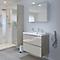 Ensemble de salle de bains à suspendre Imandra taupe 80 cm meuble sous vasque + plan Lana