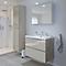 Ensemble de salle de bains à suspendre Imandra taupe 80 cm meuble sous vasque + plan Mila