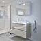 Ensemble de salle de bains à suspendre Imandra taupe 80 cm meuble sous vasque + plan Nira