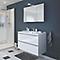 Ensemble de salle de bains à suspendre Imandra blanc 100 cm meuble sous vasque + plan Lana